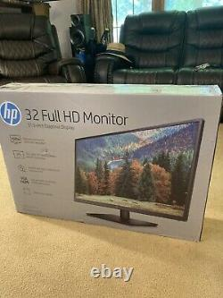 New In Box HP 32s 31.5 Inch LCD Monitor with Stand