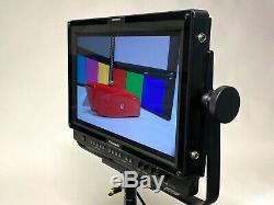 Panasonic BT-LH1710 LCD Field Monitor, Oppenheimer yoke & stand, Hoodman, case