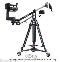 Proaim 7ft Wave-2 Jib with CST-100 Stand, D-77 Dolly, Jr. Pan Tilt & LCD Monitor