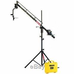 Proaim 9ft 2.7m Camera Crane Jib Tripod Stand Pan Tilt Head LCD monitor Joystick