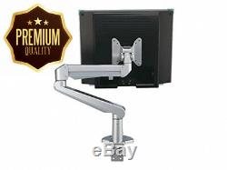 Roline LCD Monitor Stand Pneumatic Desk Clamp Pivot 2 Joints