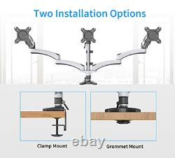 SHOPPINGALL Fully Adjustable Dual Gas Spring LCD Monitor Desk Mount Stand with 3