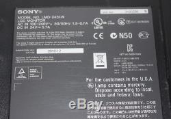 SONY LMD-2451W LCD Monitor with BKM-243HS HD-SDI Input Card NO STAND