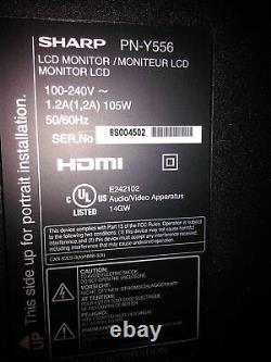Sharp PN-Y556 55 Full HD HDMI LED LCD Digital Signage Monitor NO Stand