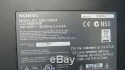 Sony LMD-2030W 20 Widescreen MultiFormat LCD Monitor Analog Only -no stand