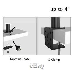Suptek Dual LCD LED Monitor Stand Desk Mount Bracket Heavy Duty Stacked, Holds V