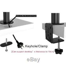 Suptek Hex Arm LCD LED Monitor Stand Desk Mount Bracket Heavy Duty & Fully 6 up