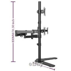 Suptek Quad Arm LCD LED Heavy Duty Monitor Stand Desk Mount Bracket 3 + 1 free S