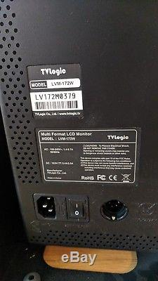 TV LOGIC 17 LVM-172W LCD MONITOR With Stand BROADCAST- SDI Multiformat