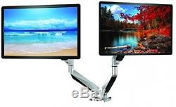 ThingyClub Dual Gas Spring LCD LED Desk Mount Arm Monitor Stand Bracket With