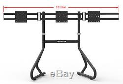 Triple 3 Monitor Floor Mounting Gaming Event Stand Holds 35-45 LED LCD TV Mo