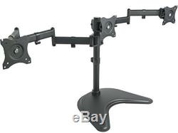 Triple Monitor Mount Fully Adjustable Desk Free Stand for 3 LCD Screens upto 27