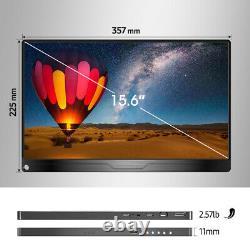 UPERFECT 15.6 Monitor Portable 4K 3840x2160 HDR IPS Ultra Slim VESA Stand LCD