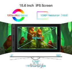 USED HUION KAMVAS PRO 16 IPS LCD 15.6'' Graphic Drawing Monitor +Touch Bar&Stand