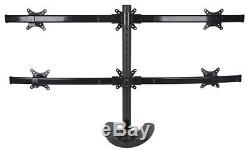VIVO Hex LCD Monitor Stand, Desk Mount, Free Standing with Optional bolt-through