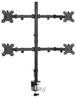 VIVO Quad LCD Monitor Desk Mount Stand Heavy Duty Fully Adjustable fits 4 /Four