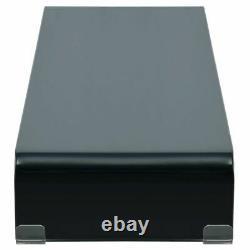 VidaXL TV Stand Monitor Riser Black Glass 43.3 Computer LCD Desktop Shelf