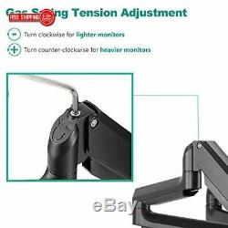 WALI Premium Triple LCD Monitor Desk Mount Fully Adjustable Gas Spring Stand for