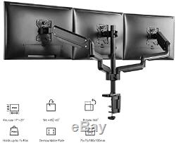 WALI Triple LCD 3 Monitor Desk Mount Fully Adjustable Gas Spring Stand 27 Inch