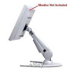 Ziotek 111-0205 Desktop Adjustable LCD Monitor Mount Arm Stand Holder Grey